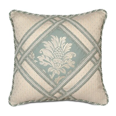 Eastern Accents Carlyle Polyester Diamond Insert Square Decorative Pillow