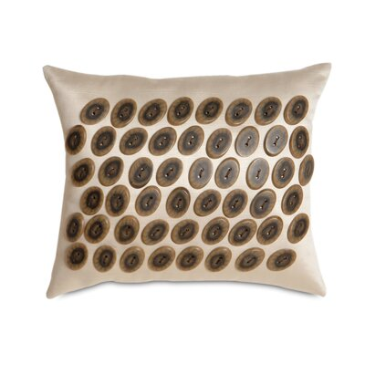 Eastern Accents Jaya Witcoff Linen Buttons Decorative Pillow