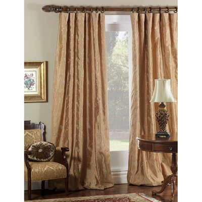 Eastern Accents Cecilia Embroidered Paisley Three-Finger Cotton Pleated Curtain Single Panel