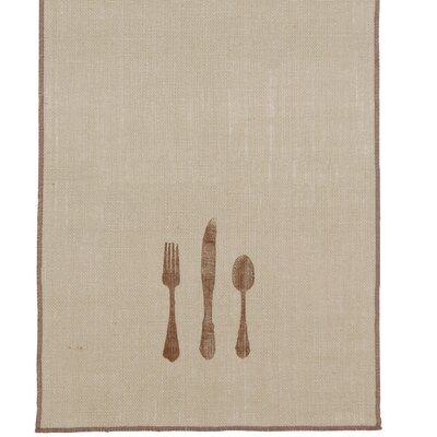 Eastern Accents Rustique Burlap Table Runner