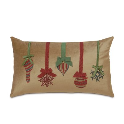 Deck The Halls Festive Ornaments Decorative Pillow
