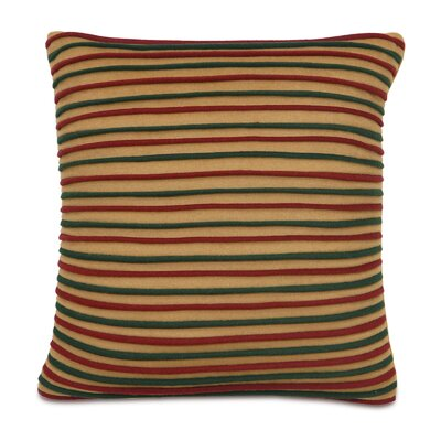 Home for The Holidays Wooly Stripe Decorative Pillow