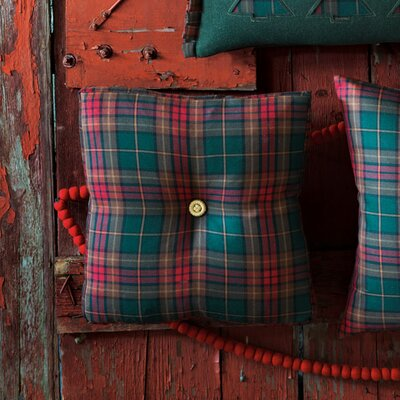 Eastern Accents Home for The Holidays Plaid Box Decorative Pillow
