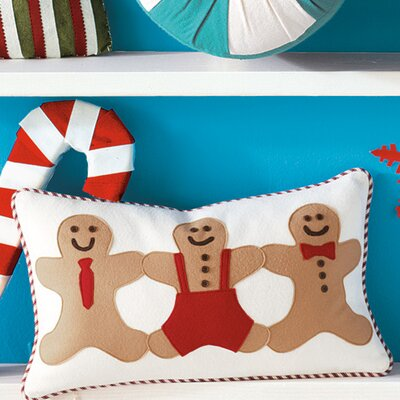 Eastern Accents North Pole Gingerbread Men Decorative Pillow