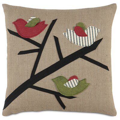 Eastern Accents Fa La La 3 Calling Birds Pillow