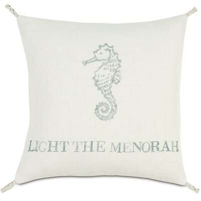 Coastal Tidings Light The Menorah Pillow