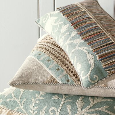 Eastern Accents Avila Polyester Decorative Pillow with Tassel Fringe
