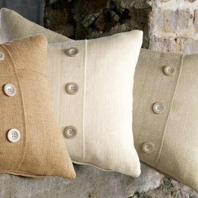 Eastern Accents Rustique Burlap Polyester Knife Edge Decorative Pillow