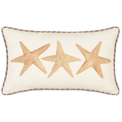 Caicos Polyester Hand-Painted Starfish Decorative Pillow