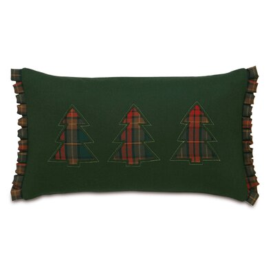 Home for The Holidays Three Plaid Trees Decorative Pillow