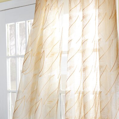 Eastern Accents Antigua Collier Sunshine Rod Pocket Curtain Single Panel