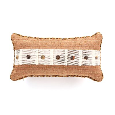 Caicos Polyester Stark Sunset Decorative Pillow with Buttons