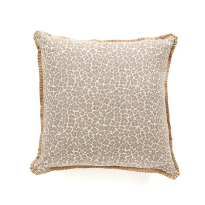 Eastern Accents Rayland Polyester Parrish Fawn Decorative Pillow with Pleated Ribbon