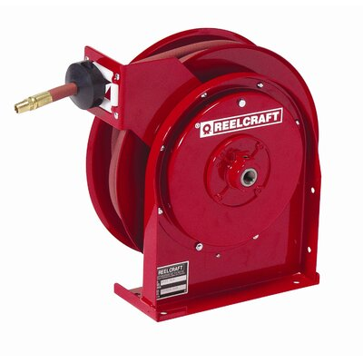 "Reelcraft 0.25"" x 25', 300 psi, Premium Duty Air / Water Reel with Hose"