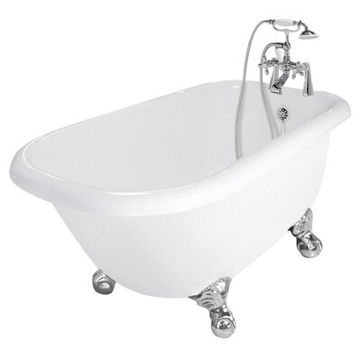 "American Bath Factory Trinity 60"" x 30"" AcraStone Traditional Bathtub"