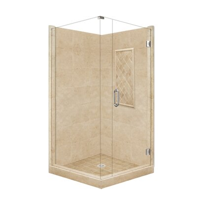 American Bath Factory Supreme Front-and-Right Threshold Shower Enclosure