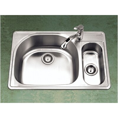 ... Double Bowl 80/20 Kitchen Sink with Small Right Bowl & Reviews