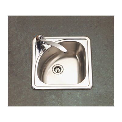 Houzer Hospitality Topmount Corner Bar Sink in Satin