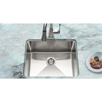 "Houzer 23.07"" x 18"" Nouvelle Undermount Single Bowl Kitchen Sink"