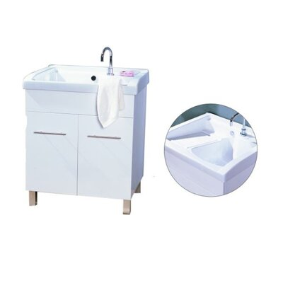 Ostar Imola Ceramic Top Laundry Tub with Side Scrub Board