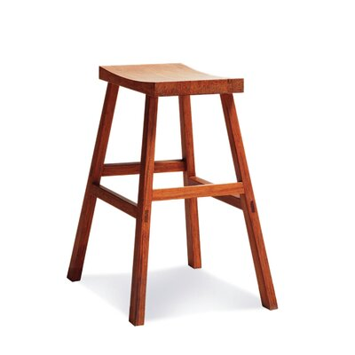 "Greenington 18"" Holly Bamboo Stool in Caramelized Finish"