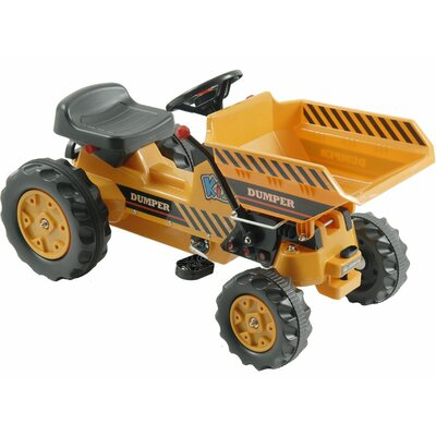 Big Toys Kalee Pedal Tractor with Dump Bucket in Yellow