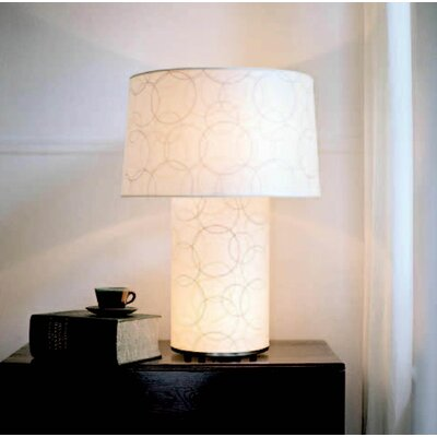 "Lights Up! Mombo Grande 32"" H Table Lamp with Drum Shade"
