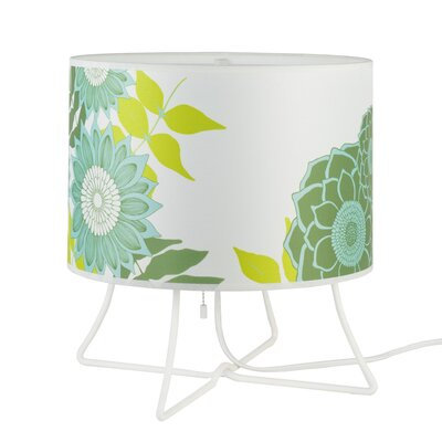 """Lights Up! Virgil Low 13"""" H Table Lamp with Drum Shade"""