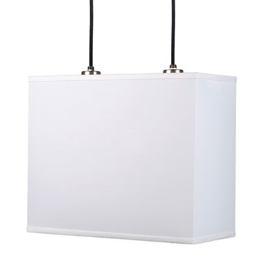 Lights Up! Rex Pendant Lamp with Canopy in Brushed Nickel