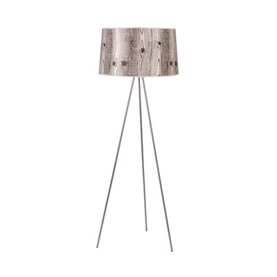Lights Up! Weegee Floor Lamp in Brushed Nickel