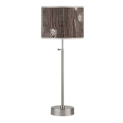 Lights Up! Cancan Adjustable Table Lamp with Drum Shade