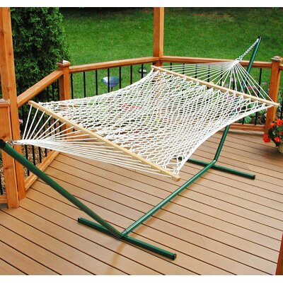 Algoma Net Company Large Polyester Rope Hammock with Stand