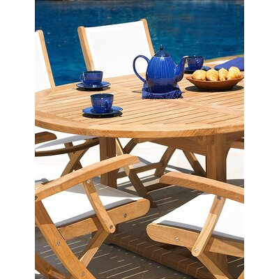Three Birds Casual Teak Chelsea Riviera 4 Piece Dining Set