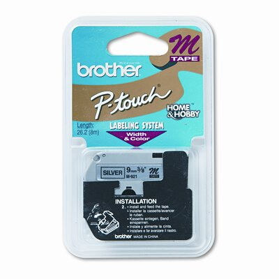 Brother M921 P-Touch Tape Cartridge for P-Touch Labelers, 3/8W