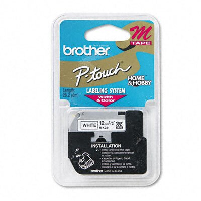 Brother P-Touch M Series Tape Cartridge for P-Touch Labelers, 1/2W