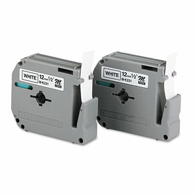 Brother M2312PK P-Touch Tape Cartridge for P-Touch Labelers, 2/Pack