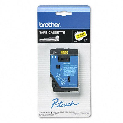 Brother P-Touch Tc Tape Cartridge for P-Touch Labelers, 1/2W