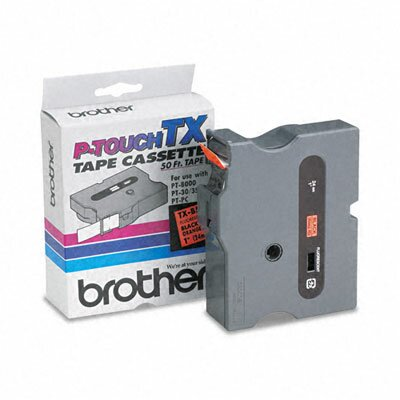 Brother P-Touch Tx Tape Cartridge for Pt-8000, Pt-Pc, Pt-30/35, 1W