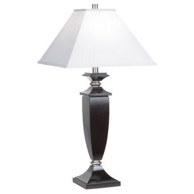 Pacific Coast Lighting Kathy Ireland Essentials Deco Square Table Lamp in Cherry Mahogany