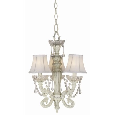 Pacific Coast Lighting Essentials 3 Light Chateau Mini Chandelier