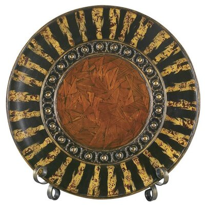 Gallery Asian Dynasty Plate with Stand in Natural Parchment