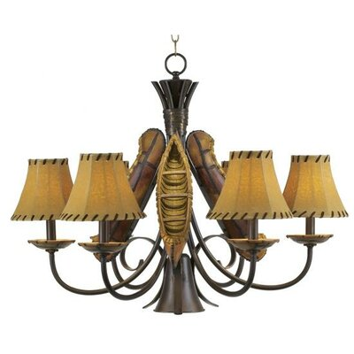 6 Light Grand Old River Canoe Chandelier
