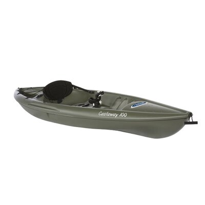 Pelican Castaway 100 Sit-on-top Fishing Kayak in Khaki