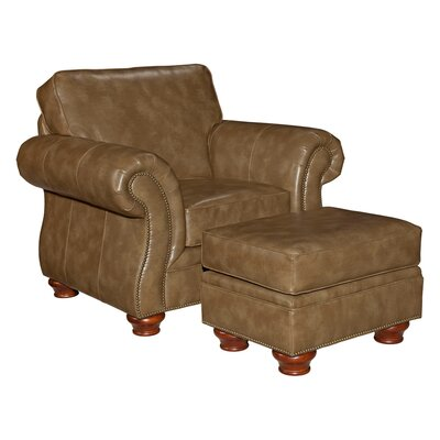Broyhill® Tahoe Leather Chair and Ottoman