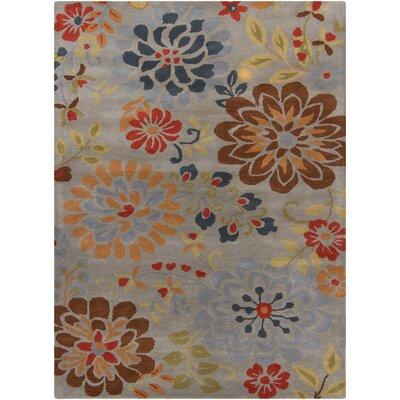 Chandra Rugs Bajrang Grey Floral Rug