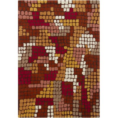 Chandra Gagan Brown Abstract Rug
