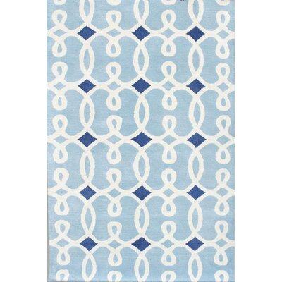 Chandra Rugs Davin Blue Geometric Rug