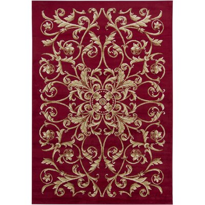 Chandra Rugs Taj Red Floral Rug