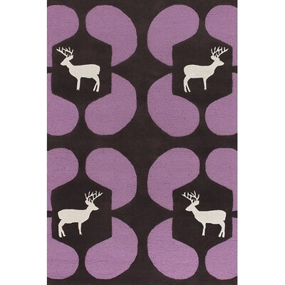 Chandra Rugs Avalisa Purple Deer Novelty Rug