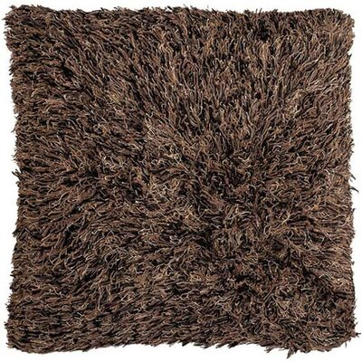 Chandra Rugs Brown Shag Floor Pillows